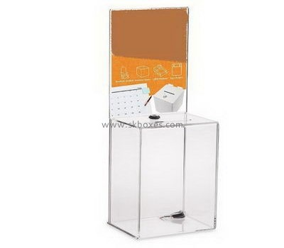Clear acrylic suggestion box with lock BBS-700