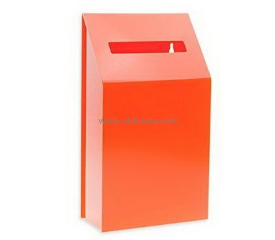 Wall mounted orange acrylic ballot box BBS-703
