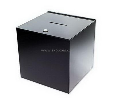 Black acrylic suggestion box with lock BBS-709