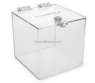 Large clear acrylic suggestion box BBS-715
