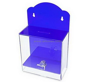 Wall acrylic ballot box with lock BBS-720