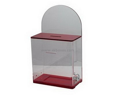 Small acrylic suggestion box with lock BBS-721