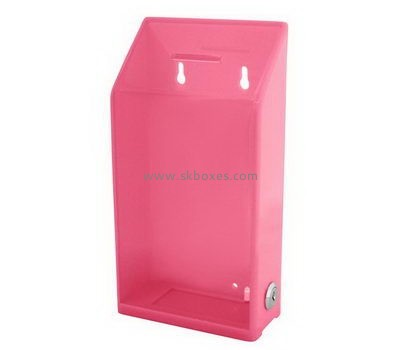 Wall pink acrylic suggestion box BBS-727