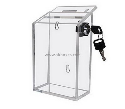 Custom wall mounted acrylic ballot box BBS-735