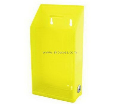 Customize wall mounted yellow acrylic election box BBS-746