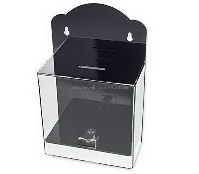 Customize wall mounted acrylic election box BBS-745
