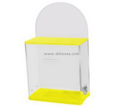 Customize small acrylic ballot box BBS-754