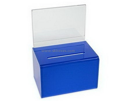 Customize blue acrylic suggestion box BBS-760