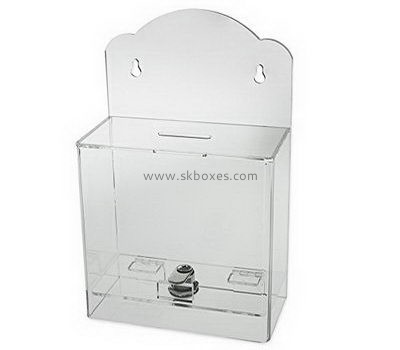 Customize wall clear acrylic suggestion box BBS-759