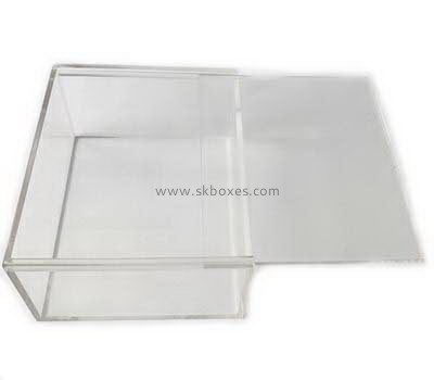 Acrylic box manufacturer custom plexiglass acrylic box with sliding lid BDC-705
