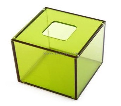 Custom square green acrylic tissue box BDC-1880