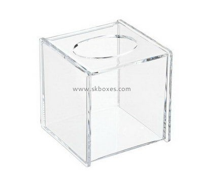 Custom square clear acrylic tissue box BDC-1881