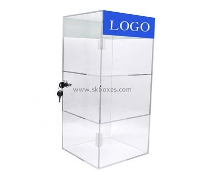 Custom 3 tiers acrylic locking display case BDC-1896