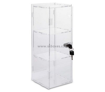 Custom 3 tiers acrylic lockable display cabinet BDC-1893