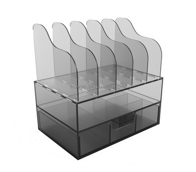 Custom acrylic drawer box with file holders BDC-1910