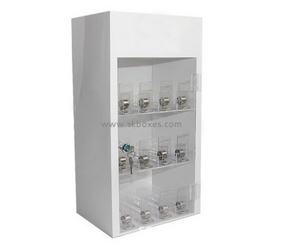 Custom retail acrylic locking display cabinet BDC-1916