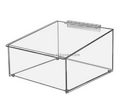 Custom slanted front acrylic display box BDC-1906