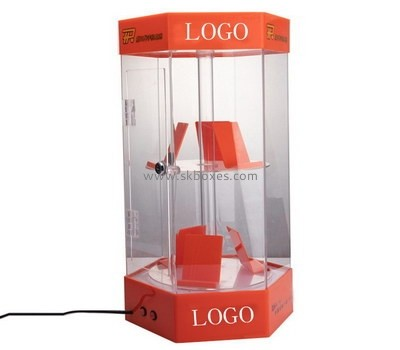 Custom hexagon acrylic phone display cabinet BDC-1917