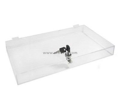 Custom clear acrylic flat locable box BDC-1937