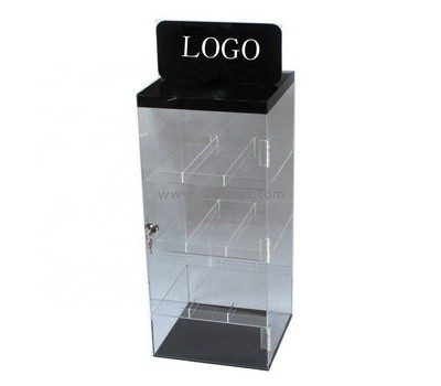 Custom retail acrylic lockable canbinet BDC-1957