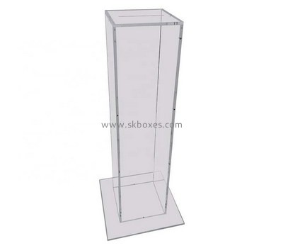 Custom floor standing clear acrylic donation box BDC-1964