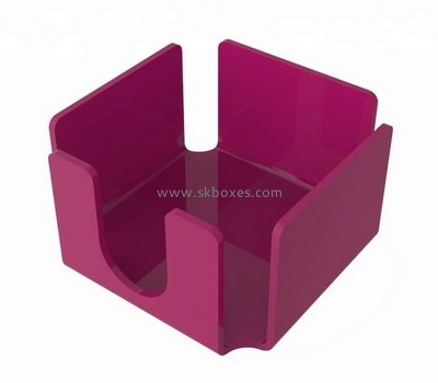 Custom purple acrylic note pad holder BDC-1967