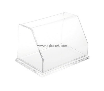 Custom front slanted clear acrylic display case BDC-1972