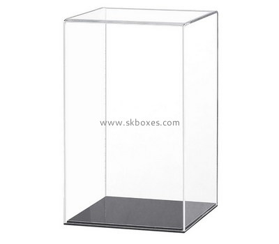 Custom 5 sided clear perspex display box with black base BDC-1978