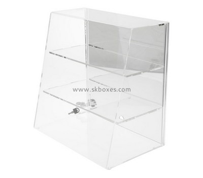 Custom 3 tiers front slanted acrylic cabinet BDC-1986