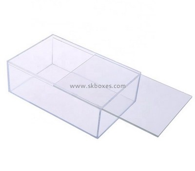 Custom clear acrylic sliding lid box BDC-1993