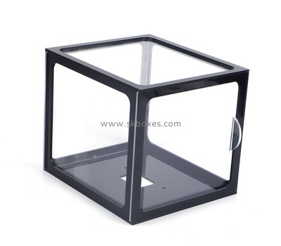 Custom square acrylic box with black frame BDC-1994