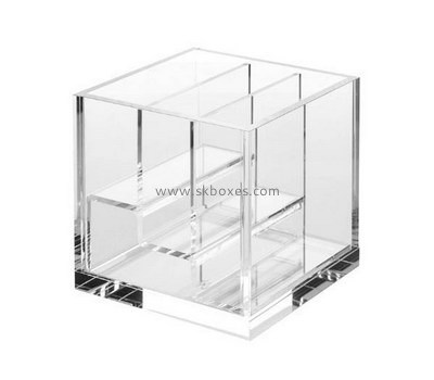 Custom 3 tiers clear acrylic display case BDC-1990