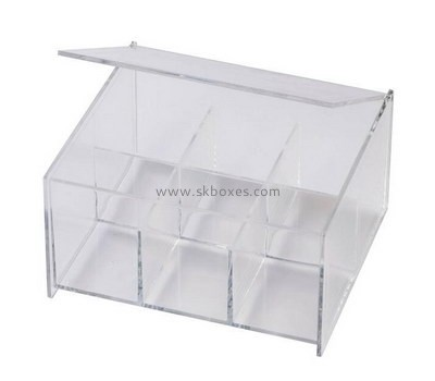Custom 6 grids clear acrylic display box with lid BDC-1992