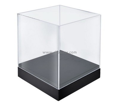 Custom 5 sided acrylic display case with black base BDC-1995
