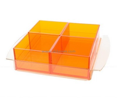 Custom 4 grids orange acrylic box BDC-1997