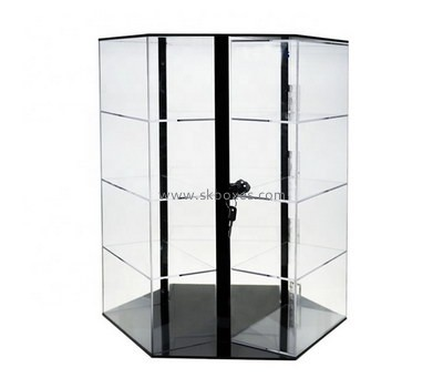 Custom clear acrylic lockable display cabinet BDC-2012