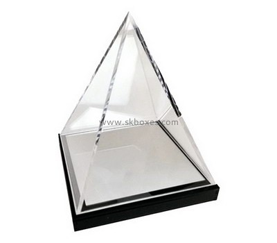 Custom cone-shape acrylic display case BDC-2013