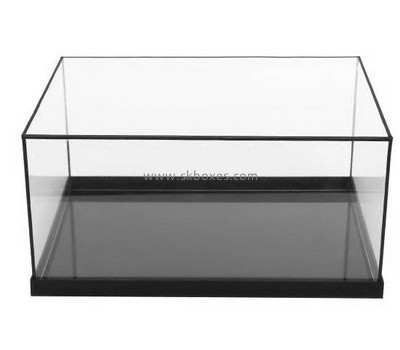 Custom acrylic display case with black base BDC-2029