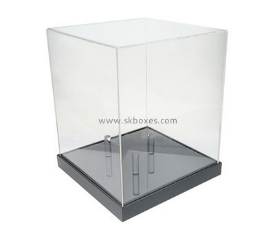 Custom acrylic display case with black base BDC-2033
