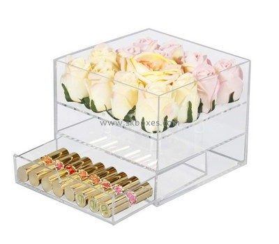 Custom acrylic rose box with drawer BDC-2035
