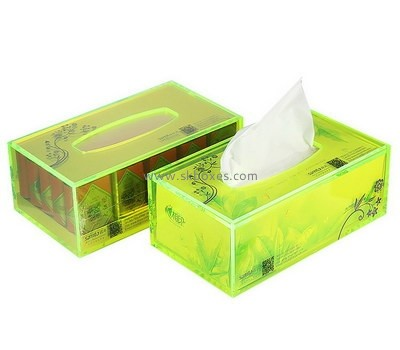 Custom green acrylic tissue box BDC-2045