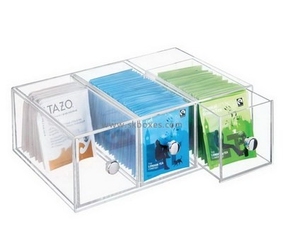 Custom acrylic tea bags drawers box BDC-2050