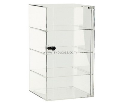 Custom 4 tiers acrylic lockable display cabinet BDC-2056