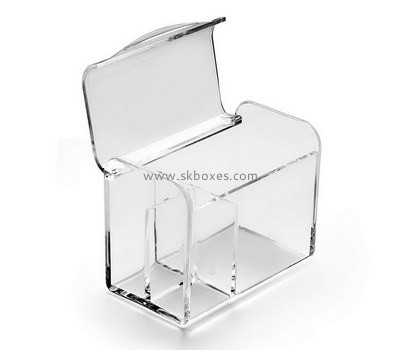 Custom clear acrylic box with hinge lid BDC-2076