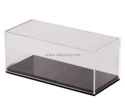 Custom 5 sided clear acrylic disply box with black base BDC-2102