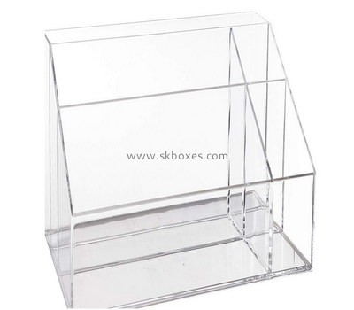 Custom 6 grids front slanted acrylic display case BDC-2106