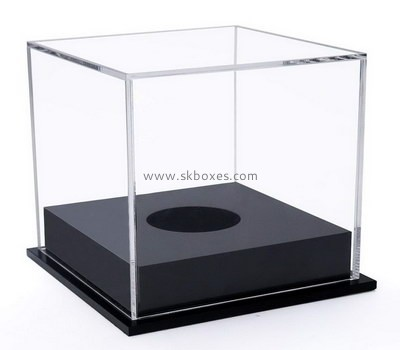 Custom clear acrylic display case with black base BDC-2108