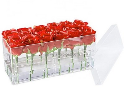 Custom clear acrylic flower box BDC-2114