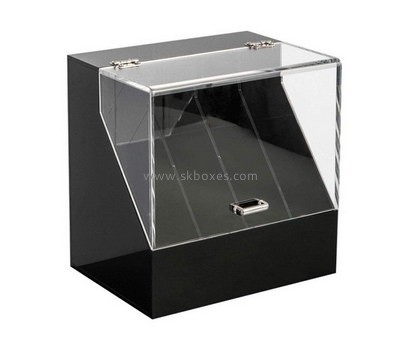 Custom 4 grids acrylic display case with lid BDC-2117