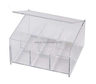 Custom 6 grids clear acrylic box with lid BDC-2118